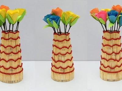 Matchstick Art and Craft Ideas | New Design Diy Matchstick Vase