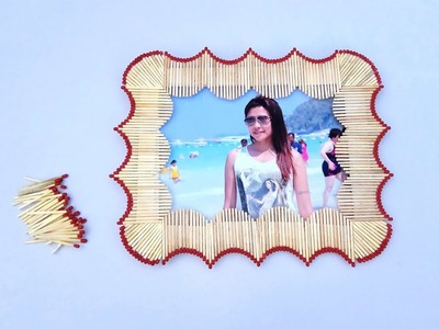 New Design Diy Matchstick Photo Frame | Matchstick Art and Craft Ideas
