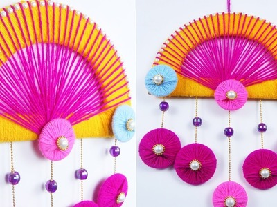 New Easy Best out of Waste Craft - Reusing Old Wool & Bangles Wall Hanging | Wool & Bangle Craft