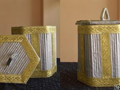 Newspaper Jar |Newspaper craft ideas | best out of waste | parul pawar