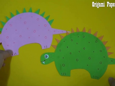 Origami Paper Dinosaur |  Paper Craft For Kids