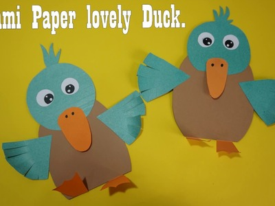 Origami Paper lovely Duck    Paper Craft For Kids