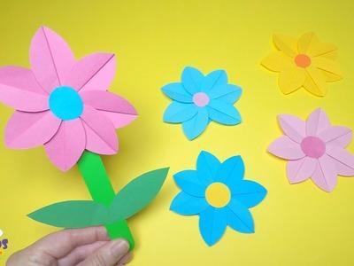 Spring Crafts for Kids | Paper Flower Craft