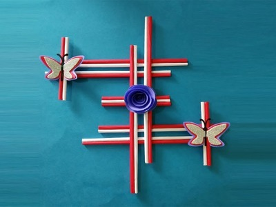 Wall Decor Ideas | Handmade Paper wall decoration craft |Trina Videos