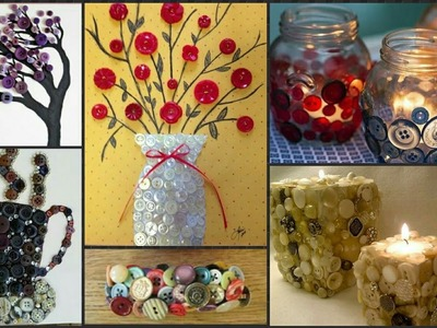 30 Button's Craft Idea's||You Must See.