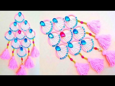 Bangles and Wool Craft Idea.How to make door hanging with bangles & Woolen at home