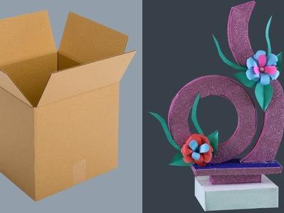 Cardboard Craft - Make a Beautiful Showpiece (Handicrafts) || Eassy Life