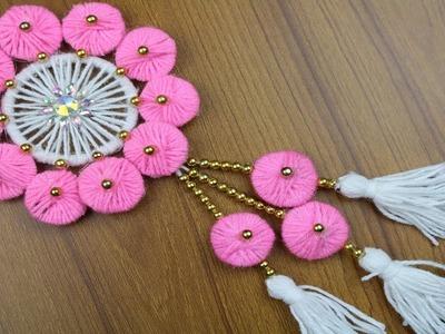 DIY arts and crafts | How to Make Door Hanging || Best reuse ideas - Woolen Craft ideas - DIY Crafts