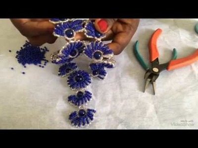DIY  beaded necklace tutorial. diy beaded shell. tutorial on how to make this shell beaded