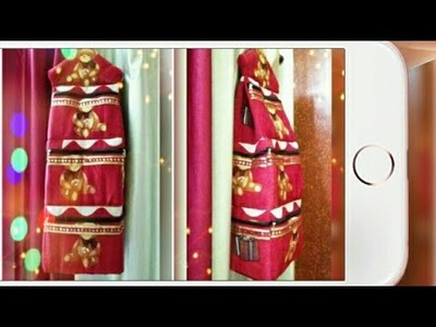 DIY : Clothes Organizer Bag From Old Bedsheet Tutorial By Anamika Mishra. .