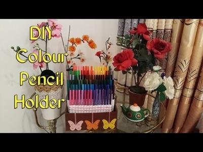 DIY  Color Pencil Holder ll  Colour Pencil Organisation Ideas