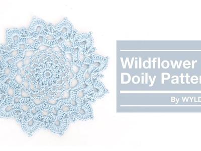 DIY CROCHET FLOWER DOILY TUTORIAL - Beginner Friendly - Free Pattern - How to Crochet a doily