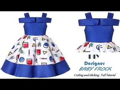 DIY Designer BOX PLEATED Baby Frock step by step Tutorial