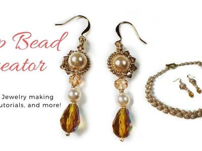 DIY Elegant Pearl Earrings, How to make Jewerly, Beaded Earrings Tutorial