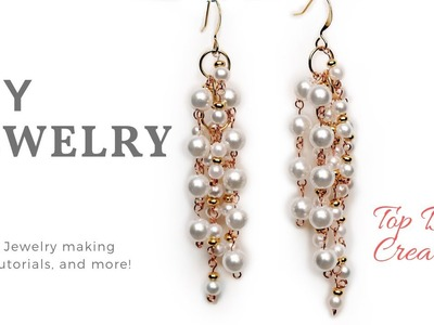 DIY Fashion Earrings, Hand made Jewelry Tutorial