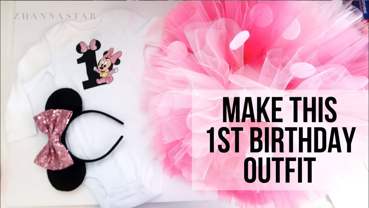 DIY how to make ombre tutu first birthday outfit TUTORIAL