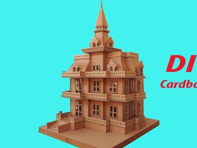 DIY How To Make Suburban House From Cardboard