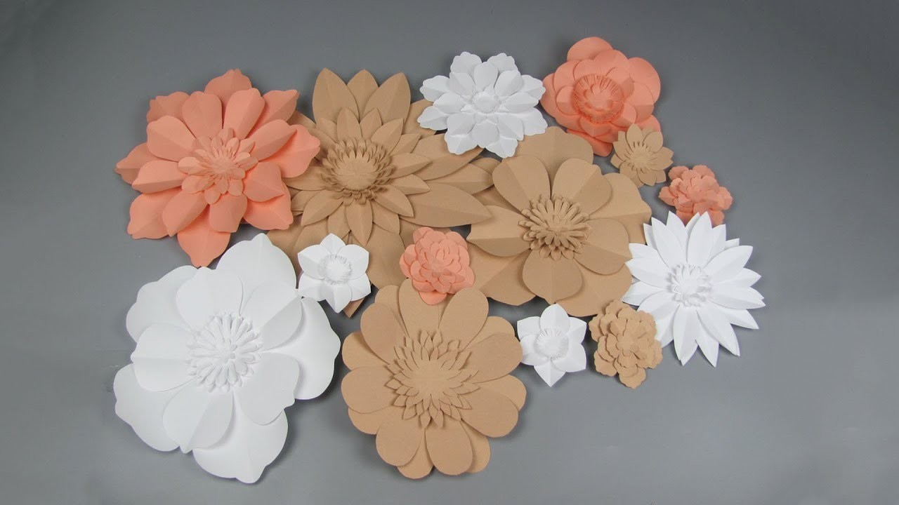 Diy Large Giant Paper Flowers Wedding Wall Background And