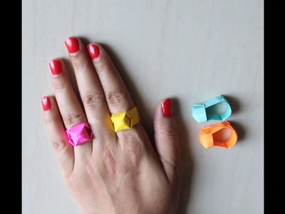 DIY - Origami Ring DIY Easy Paper Ring || How to Make Paper Ring | Ring Origami