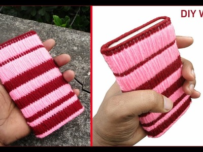 DIY Phone Case Pouch - How To Make Woolen Phone Cover