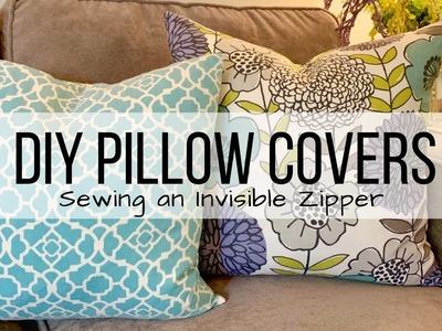 DIY PILLOW COVERS | INVISIBLE ZIPPER TUTORIAL | SPRING HOME DECOR