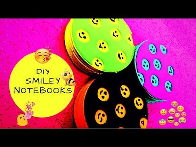 DIY - Super easy Round Felt Smiley Notebooks with only one Felt Sheet
