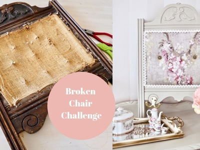 DIY Up-cycled broken chair challenge
