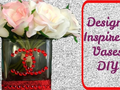 Dollar Tree Designer Inspired Chanel Vases DIY #BlingIsMyThing #dollartreediy #homegoods