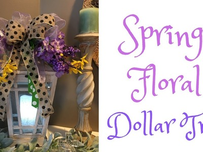 Dollar Tree Floral Lantern Arrangement Spring Easter DIY