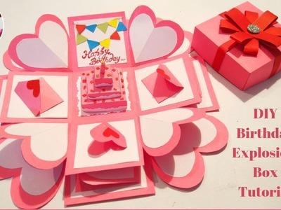 Explosion Box Tutorial || Birthday Gift Idea || Birthday Explosion Box || DIY EXPLOSION BOX