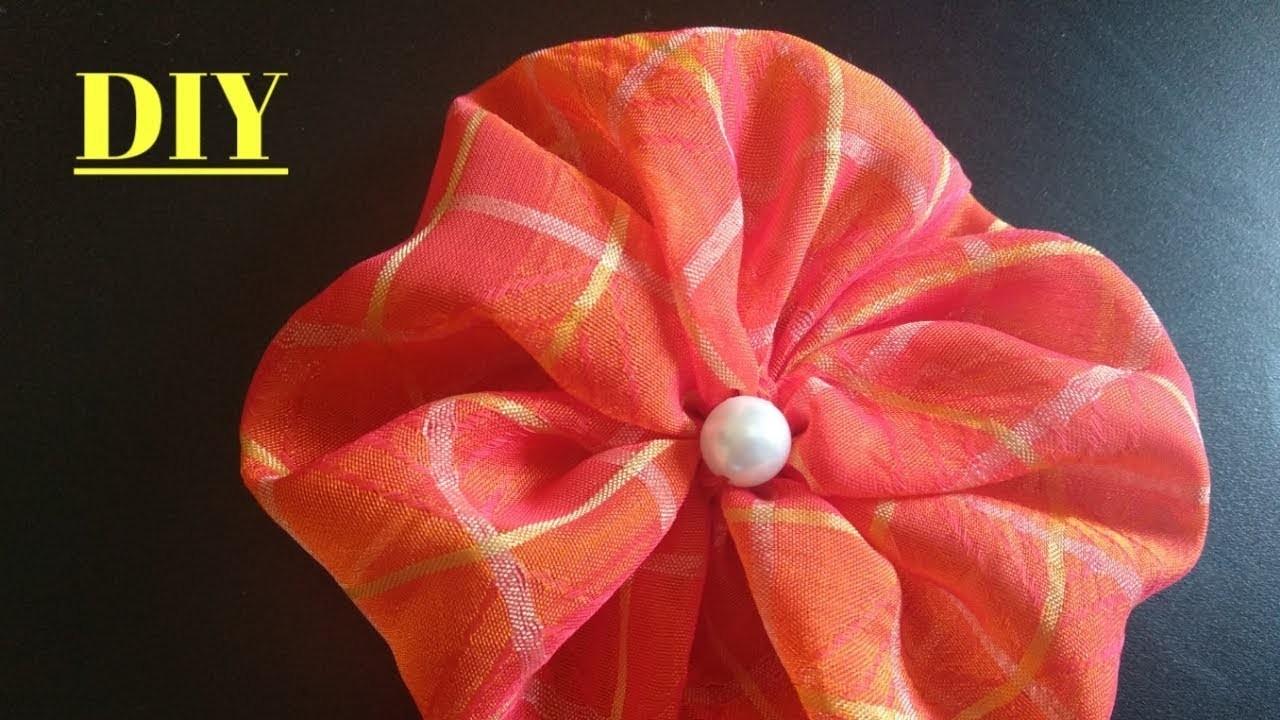 Flower making || DIY Tutorial How to make Easy Fabric Flower Rose