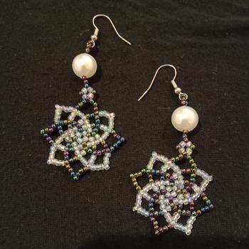 Handmade Beaded Twist Earrings Jewellery Accessories