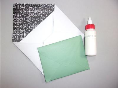 How to: DIY Envelope Glue & Envelopes w. a Ruler & Scissors