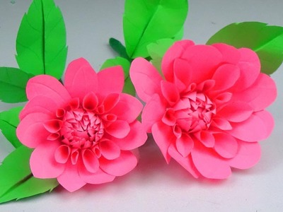 How to Make Beautiful Flower with Paper - Easy Paper Flowers - Handmade Craft