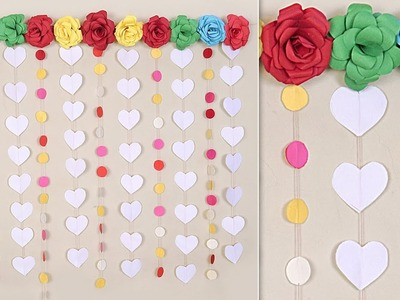 How to Make Beautiful Wall Decoration Easy Paper Craft Idea Making at Home |