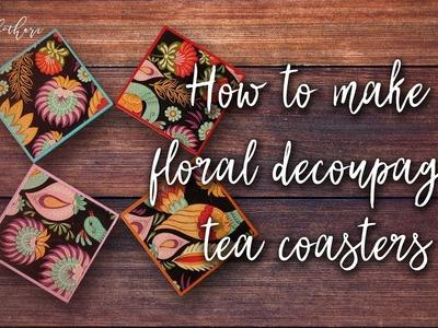 How to make DIY Decoupage Coasters [How to Decoupage Tutorial]