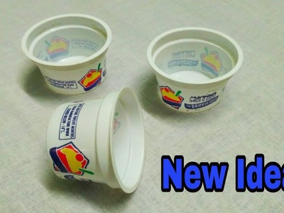 How to reuse waste plastic cups. DIY with Icecream cups. Best out of waste