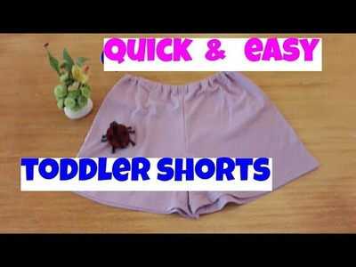 How to sew toddler shorts DIY