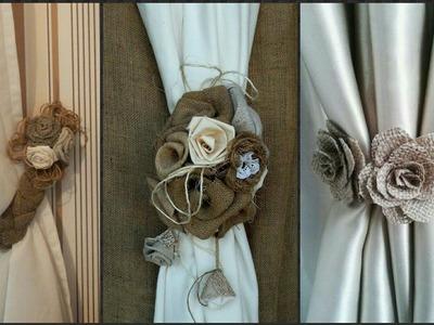 Jute & Burlap Curtain Holder Idea's||Jute Craft Idea's.