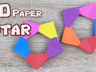Origami 3D Star Paper | How To Making a Star Paper Tutorial | DIY Paper Star Christmas Decorations
