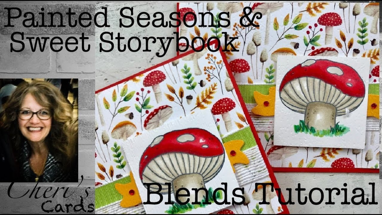 Stampin' Up! Painted Seasons Sweet Storybook Blends Tutorial DIY Greeting Card