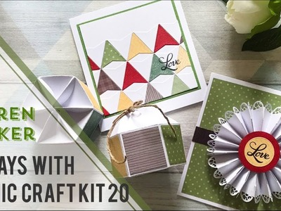 Tonic Tutorial - 3 Ways with Tonic Craft Kit 20 - Keren Baker
