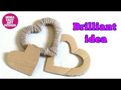 Wow Brilliant way to reuse Cardbord to make house Decoration  Cool craft idea mimaeasyartdesign