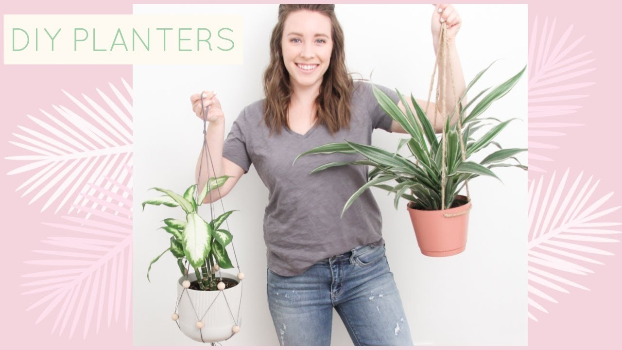 3 Easy DIY Planters    Macrame for Beginners, Hanging Rope Planter, + More