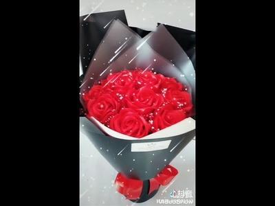 Amazing DIY ribbon roses.????????????