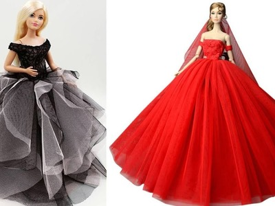 Awesome Glamorous party gown for Barbie,DIY Fast and easy Barbie dress