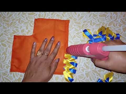 Beautiful and easy Satin ribbon dress for Sai Baba.how to make Sai Baba dress.poshak at home.