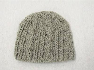Child Crochet Cable Stitch Hat | Toddler Crochet Cable Stitch Hat
