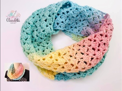 CROCHET easy Spring LOOP SCARF. BEGINNER