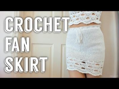 Crochet Fan Skirt | Tutorial DIY